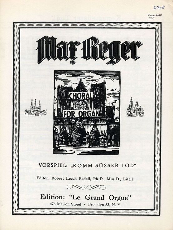 7157 | ''Komm susser Tod!'' Vorspiel - Choral for Organ - Edition le Grand Orgue