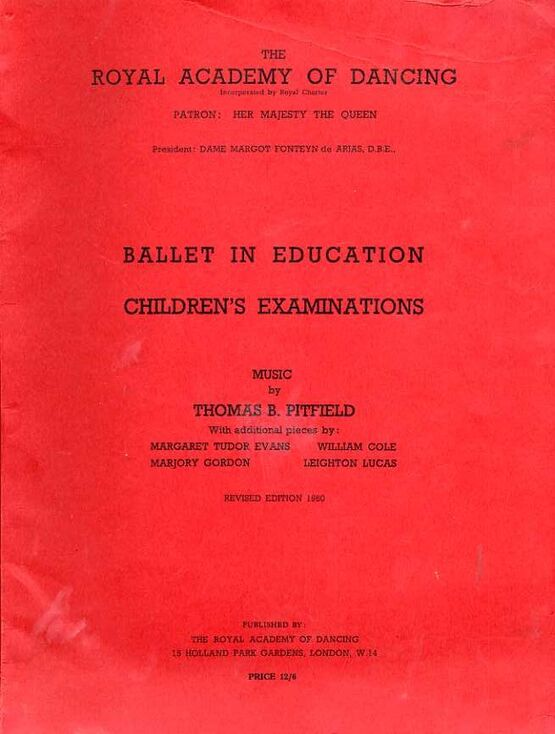 7208 | Ballet in Education - Piano Solo Pieces for Children's Examinations - The Royal Academy of Dancing