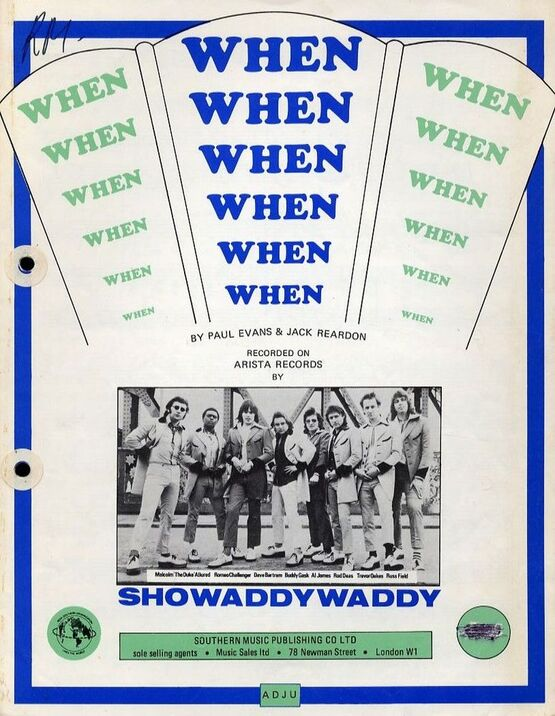 7299 | When - Song - Featuring Showaddywaddy