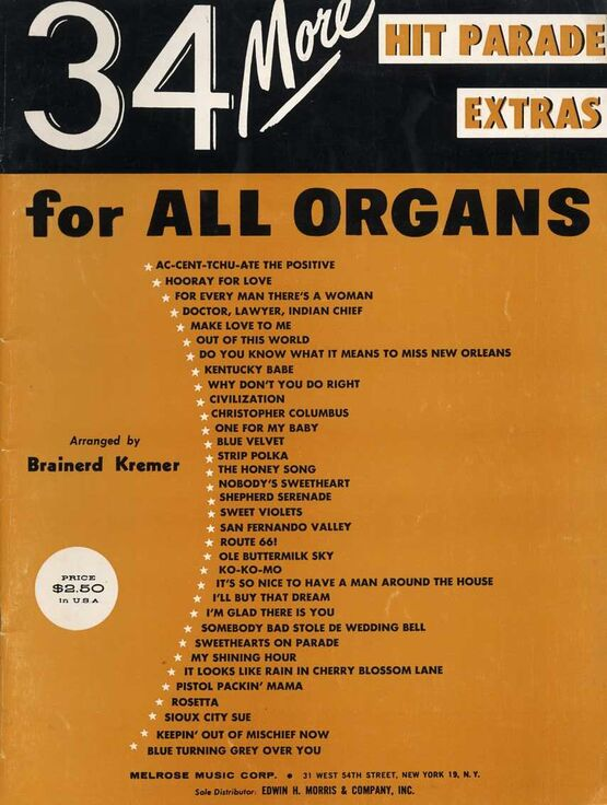 7389 | 34 More Hit Parade Extras for All Organs