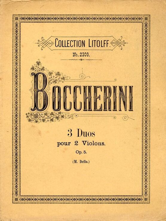 7456 | 3 Duos - For 2 Violins - Op. 5 - Collection Litolff No. 2309