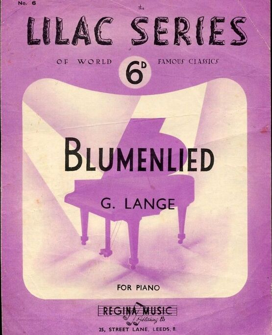 7480 | Blumenlied - Piano Solo - Lilac Series of World Famous Classics No. 6