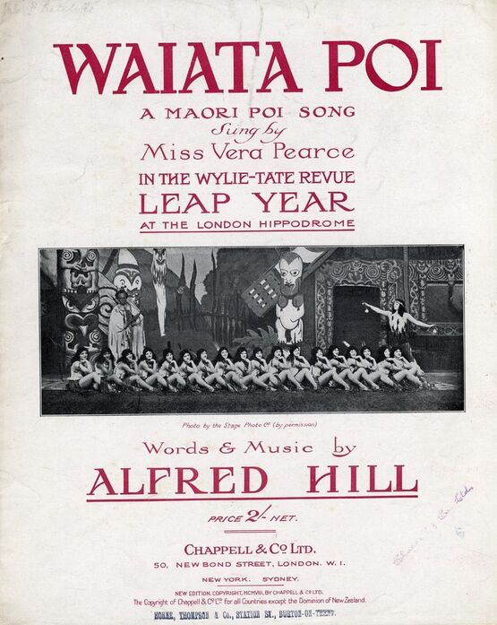7765 | Waiata Poi - A Maori Poi Song - Sung by Miss Vera Pearce in the Wylie-Tate Revue Leap Year at the London Hippodrome