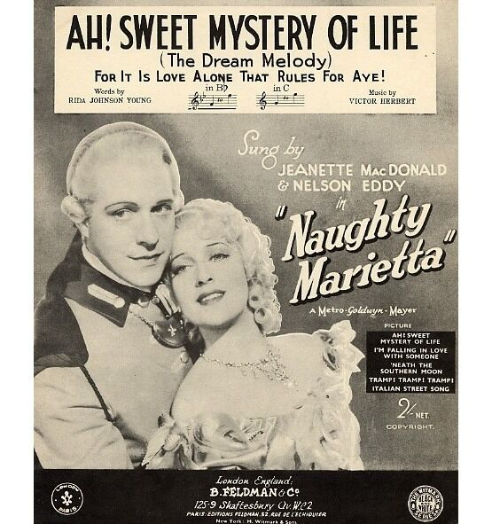7791 | Ah Sweet Mystery of Life - In the Key of B Flat - Featuring Mary Martin & Allan Jones