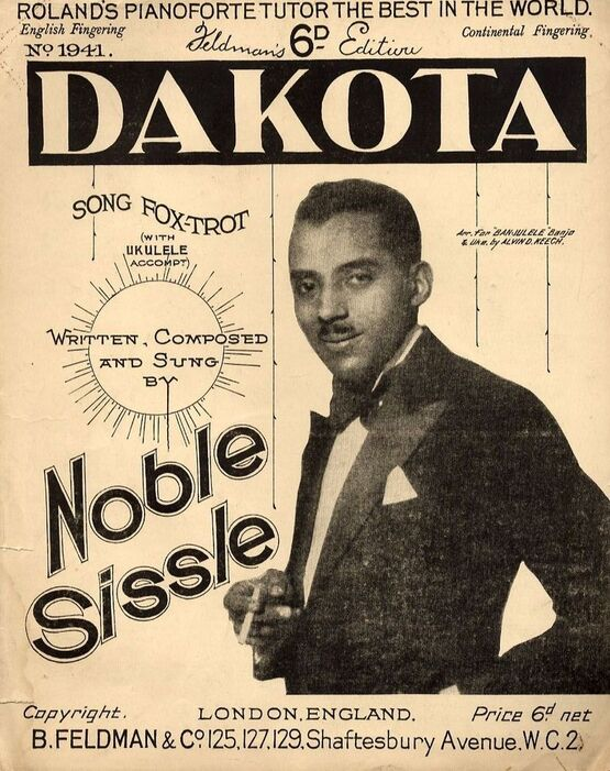 7791 | Dakota - Song Fox-Trot - For Piano and Voice with Ukulele chord symbol accompaniment - Written adn Sung by Noble Sissle