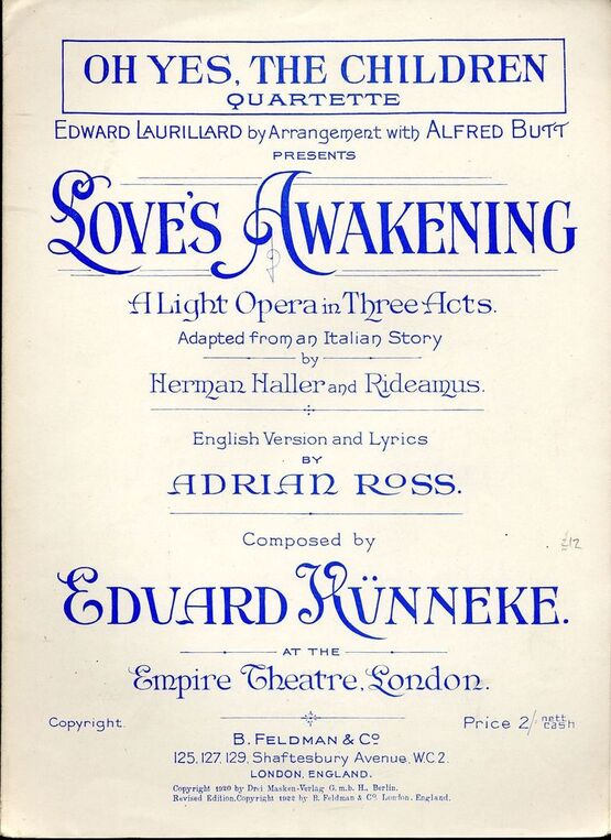 Oh yes the children quartette from loves awakening a light 7791 oh yes the children quartette from stopboris Images