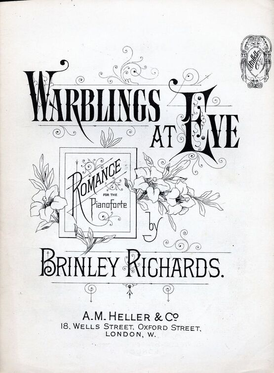 7814 | Warblings at Eve - Romance - Piano Solo