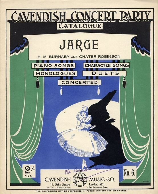 7833 | Jarge - Cavendish Concert Party Catalogue No. 6