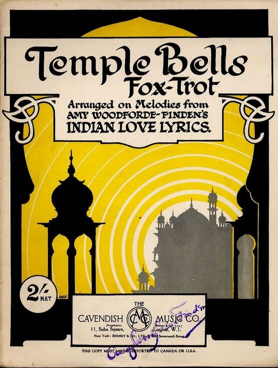 7833 | Temple Bells -  Fox Trot for Piano - Arranged on Melodies from Amy Woodforde-Finden's Indian Love Lyrics