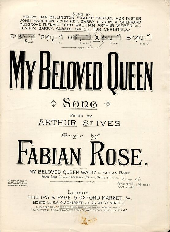 My Beloved Queen - Song in the key of A flat major
