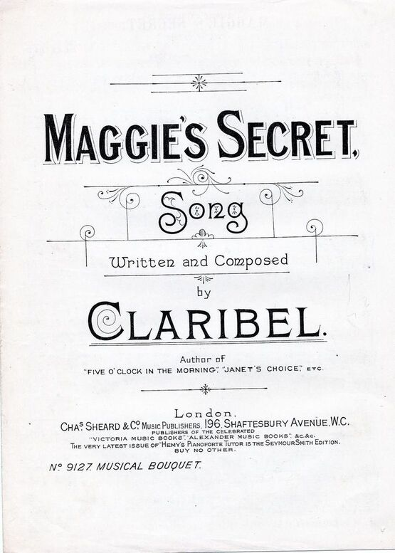 7842 | Maggie's Secret - Song - Musical Boquuet No. 9127