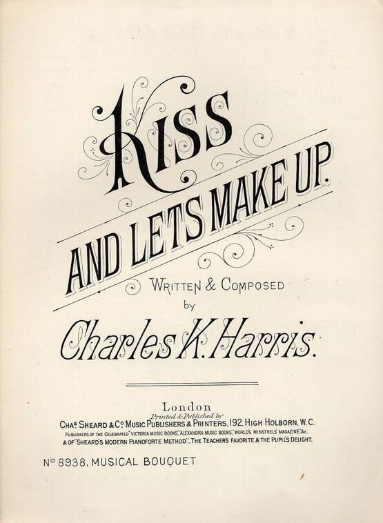 7843 | Kiss and Lets Make Up - Musical Boquet No. 8938