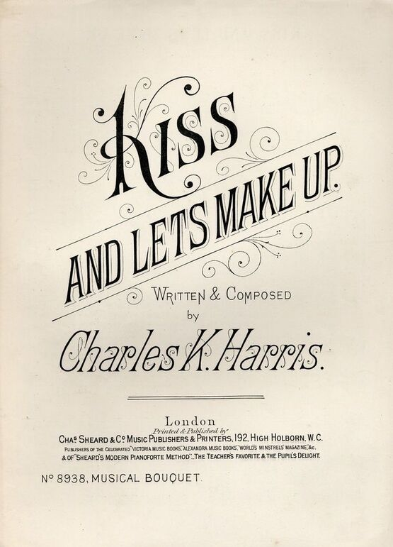 7843 | Kiss and lets Make Up - Musical Boquuet No. 8938