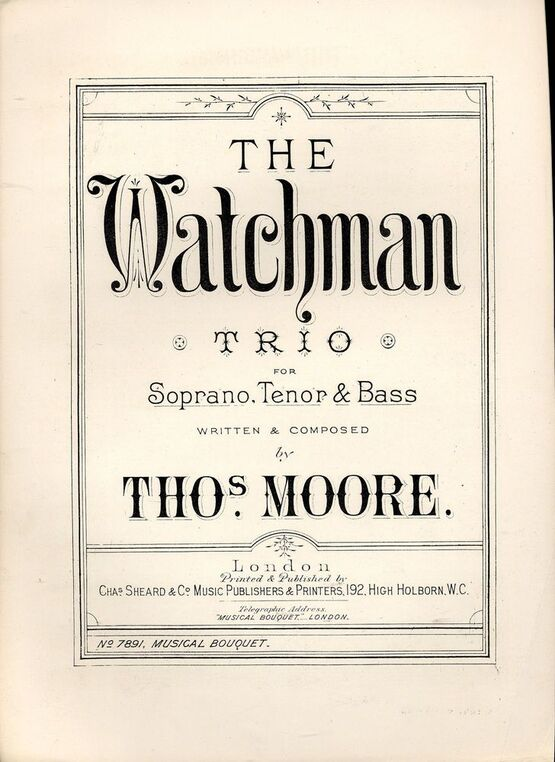 The Watchman - Trio for Soprano, Tenor & Bass - Musical Bouquet No  7891