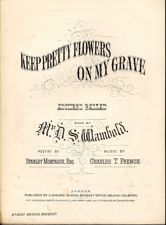 Keep pretty flowers on my grave musical bouquet no 6257 only 1400 7845 keep pretty flowers on my grave musical bouquet no 6257 mightylinksfo
