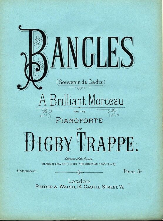 7853 | Bangles (Souvenir de Cadiz) - A Brillant Morceau for the Pianoforte