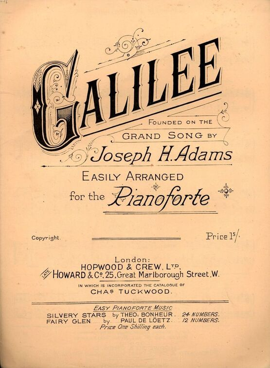 7858 | Gaililee - Founded on the Grand Song - For Pianoforte