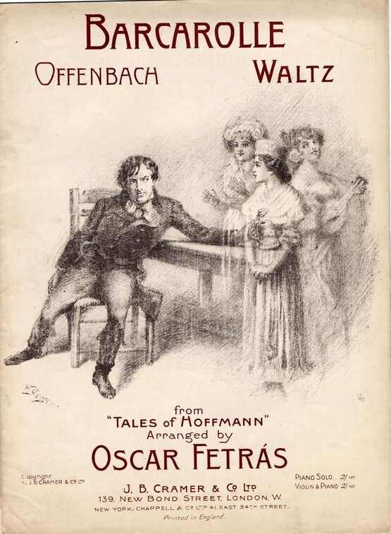 Barcarolle The Opera And I >> La Barcarolle Waltz On Motifs From Offenbach S Opera Les Contes D