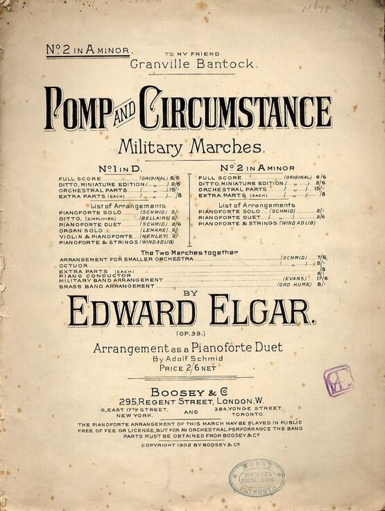 7864 | Pomp and Circumstance - No. 2 in A minor