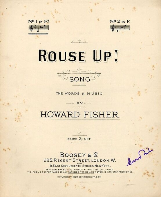 7864 | Rouse Up! - Song in the key of E flat major for Low Voice
