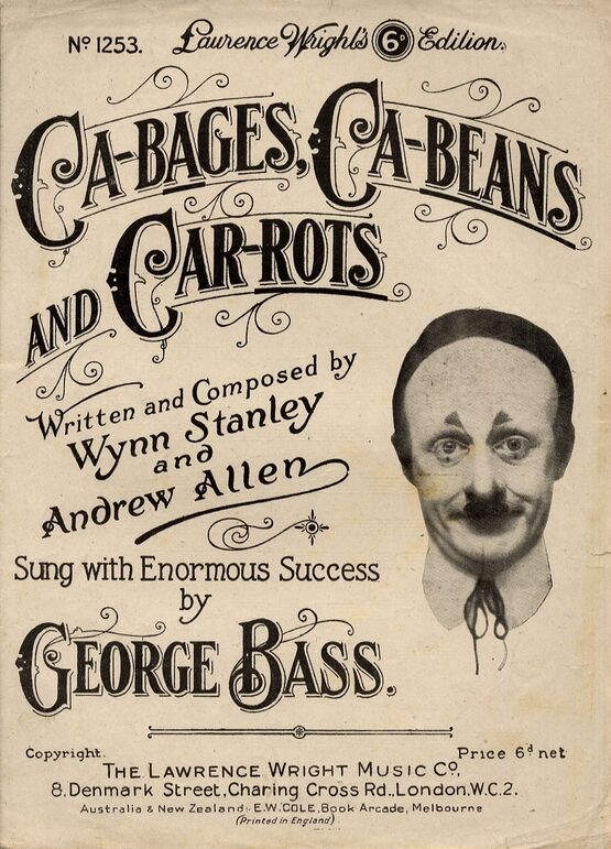7885 | Ca-bages - Ca-beans and Car-rots - Featuring George Bass and Sung with Enormous Success