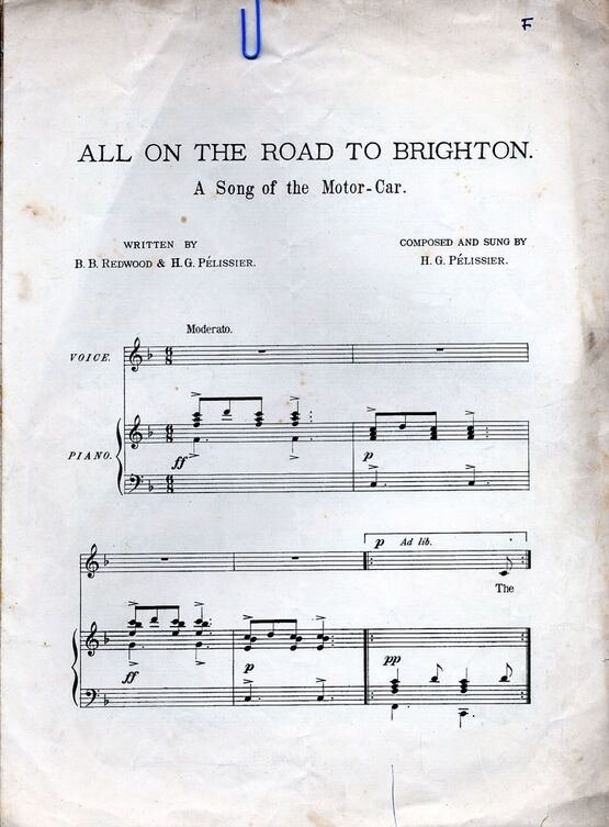 7940 | All on the Road to Brighton - A song of the Motor Car