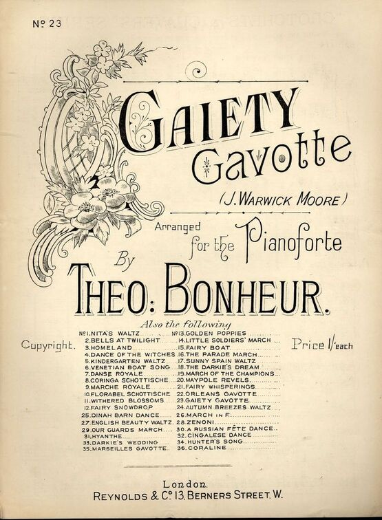 7940 | Gaiety Gavotte - For Pianoforte - Series No. 23