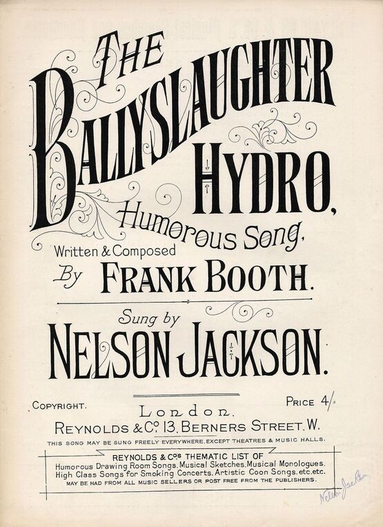 The Ballyslaughter Hydro - Humourous Song as sung by Nelson Jackson