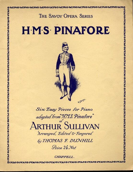 7979 | H. M. S. Pinafore - The Savoy Opera Series - Six Easy Pieces for Piano adapted from