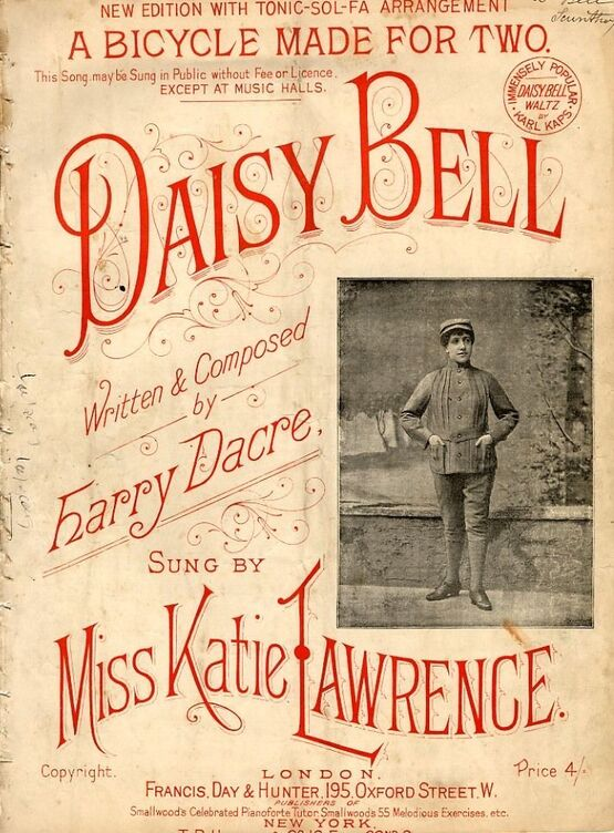 8028 | Daisy Bell - A Bicycle made for two - As sung by Miss Katie Lawrence