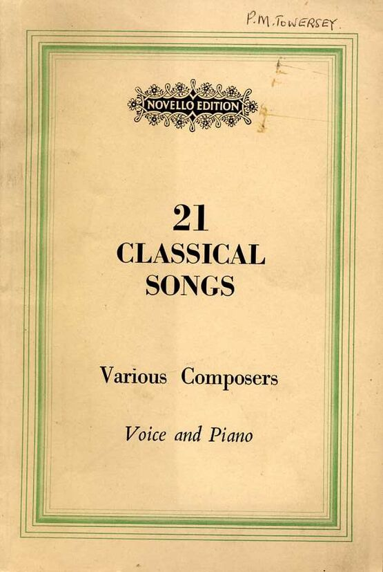 8072 | 21 Classical Songs for Voice and Piano