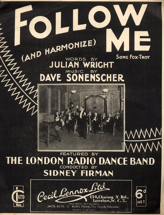 8097 | Follow Me - Song Fox Trot - Featuring the London Radia Dance Band conducted by Sidney Firman