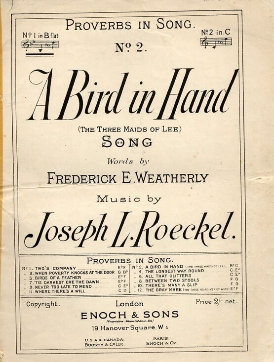 8102 | A Bird in Hand (The three maids of Lee) - Song - No. 2 of
