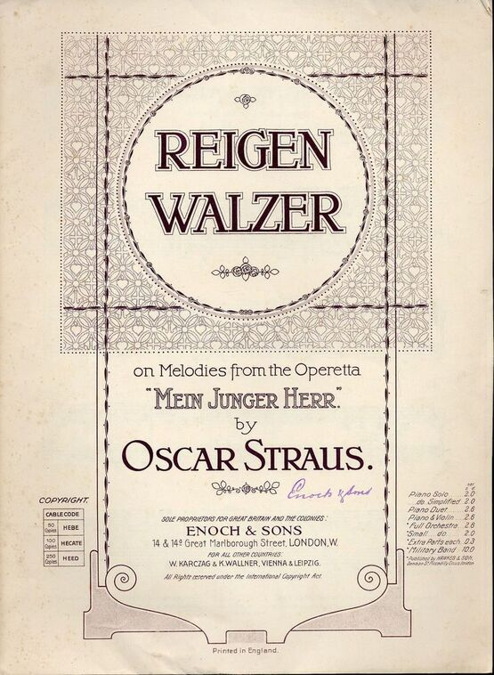 8102 | Reigen Walzer - On Melodies from the Operetta
