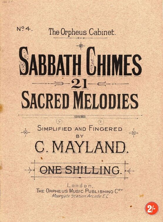 8186 | Sabbath Chimes - 21 Sacred Melodies - The orpheus Cabinet No. 4
