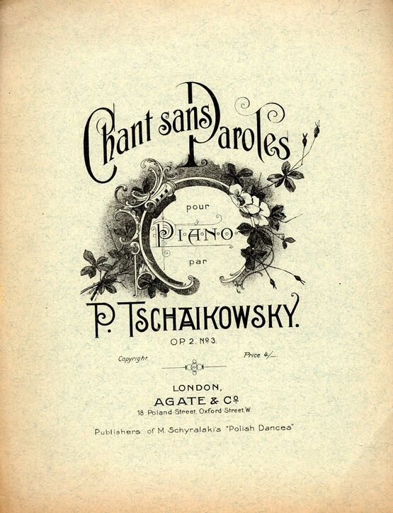 8207 | Tschaikowsky - Chant Sans Paroles - Op. 2 No. 3