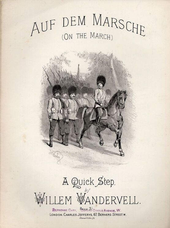 8211 | Auf Dem Marsche (On the March) - A Quick Step for Piano Solo