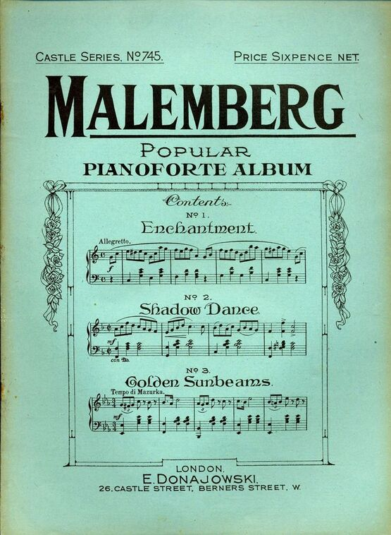 8237 | Malemberg Popular Pianoforte Album - Castle Series No. 745