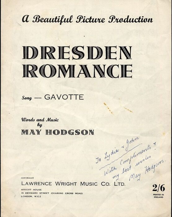 8261 | Dresden Romance - Gavotte - A Beautiful Picture Production