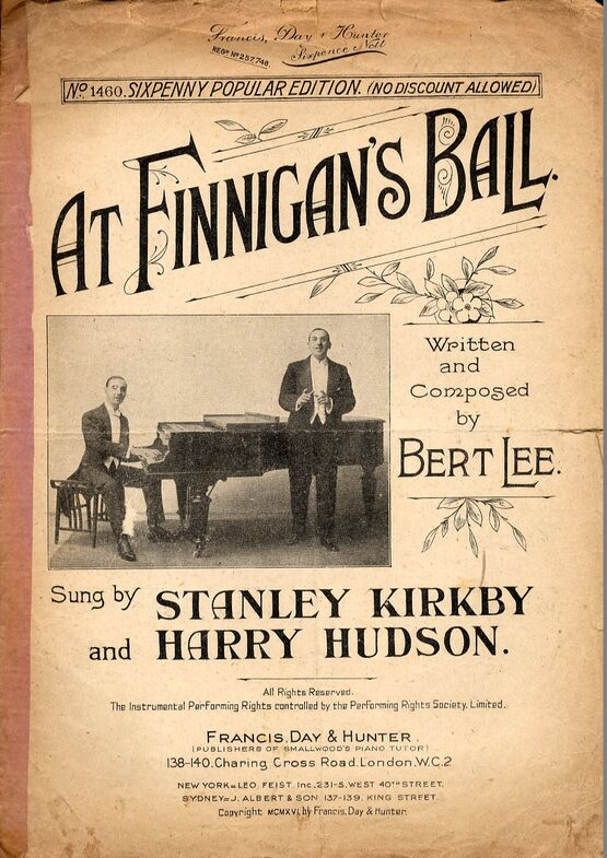 At Finnigan's Ball - No  1460 - Featuring Stanley Kirkby and Harry Hudson