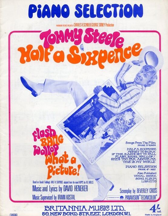 8464 | Half A Sixpence - Piano Selection - Tommy Steele