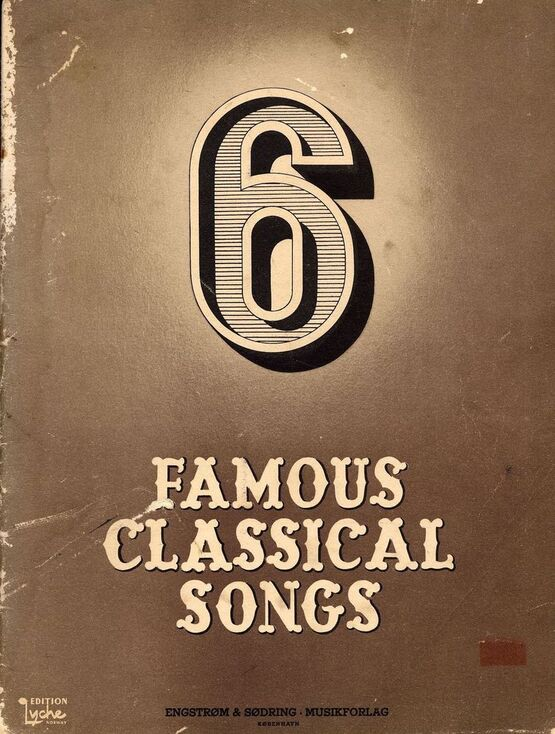 8589 | 6 Famous Classical Songs - Lyche Norway Edition - Engstrom & Sodring - Musikforlag