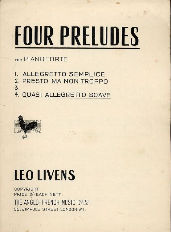 8655 | Quasi allegretto soave - Prelude - No. 4 from