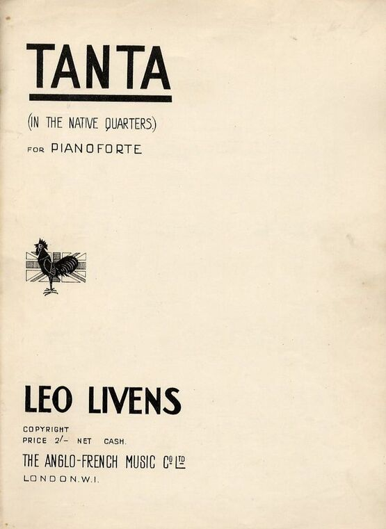 8655 | Tanta (In the native quarters) - For Piano Solo