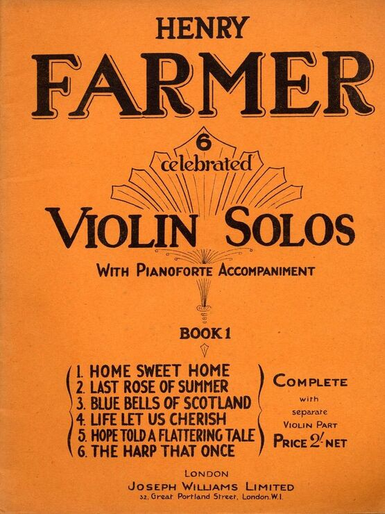 8677 | 6 Celebrated Violin Solos with Pianoforte accompaniment