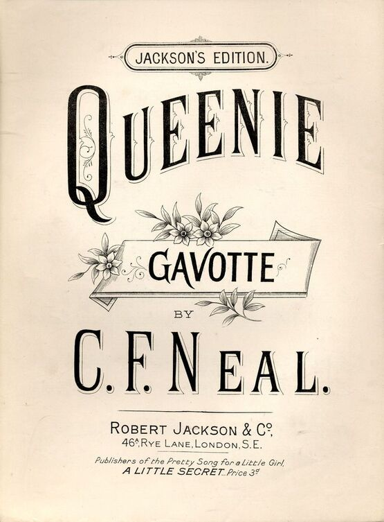 8688 | Queenie - Gavotte for Piano solo