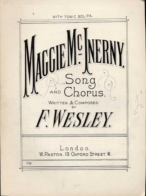 8705 | Maggie McInerny - Song and Chorus - With Tonic Sol Fa