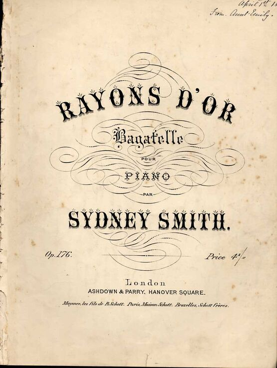8790 | Rayon's D'or - Bagatelle pour Piano - Op. 176