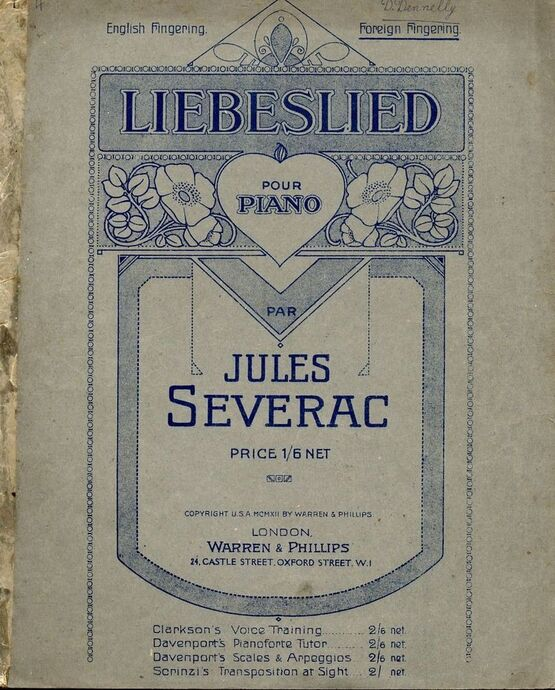 8931 | Liebeslied - For piano - Foreign Fingering