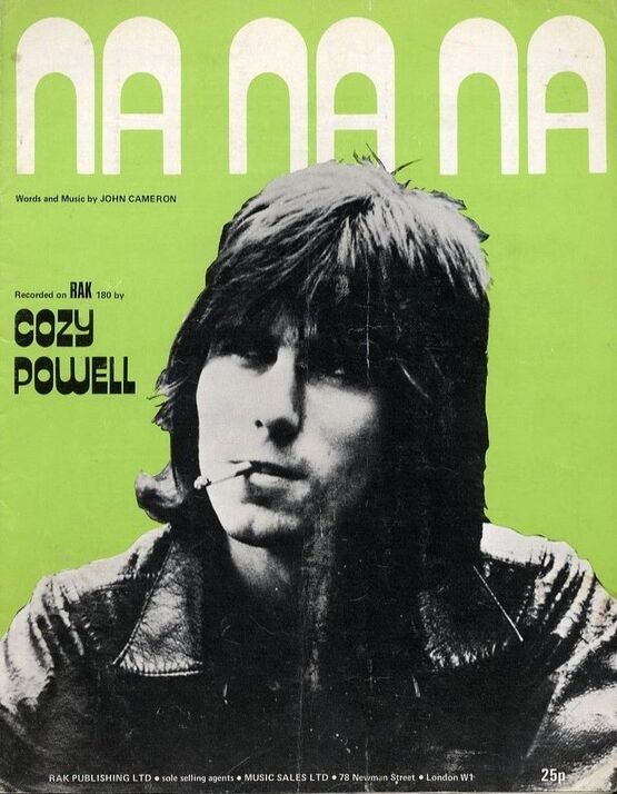 90 | Na na na - Recorded on RAK 180 by Cozy Powell - For Piano and Voice with chord symbols